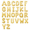 Small Alphabet Foil Balloons 16inch - Gold