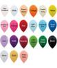 "12"" Standard Metallic Round Latex Balloons (21 Colors)"