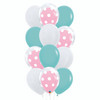 12pcs  12'' Transparent Polka Dots Balloon In A Balloon Cluster - Fashion Color