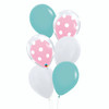 6pcs 12'' Transparent Polka Dots Balloon In A Balloon Cluster - Fashion Color