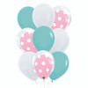 9pcs 12'' Transparent Polka Dots Balloon In A Balloon Cluster - Fashion Color