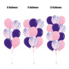 12'' Marble Pattern Balloons Cluster - Fashion Color