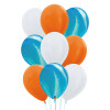 9 pcs Marble Pattern Balloons Cluster