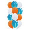 12pcs Marble Pattern Balloons Cluster