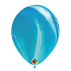 "12"" Marble Pattern Latex Balloon - Ocean Marble"
