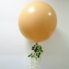 36'' Perfectly Round Floral Balloon with White Orchids