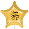"32"" Personalised Giant Star Foil Balloon - Metallic Gold"