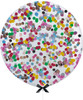 Mix & Match) 36'' Jumbo Perfectly Round Balloon - Round Confetti (1cm) (Choose from 26 Confetti Colors)