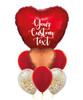 Personalised You're My Love Balloons Bouquet - Metallic Red