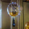 "24"" Crystal Clear Transparent Balloon dressed with LED Lights"