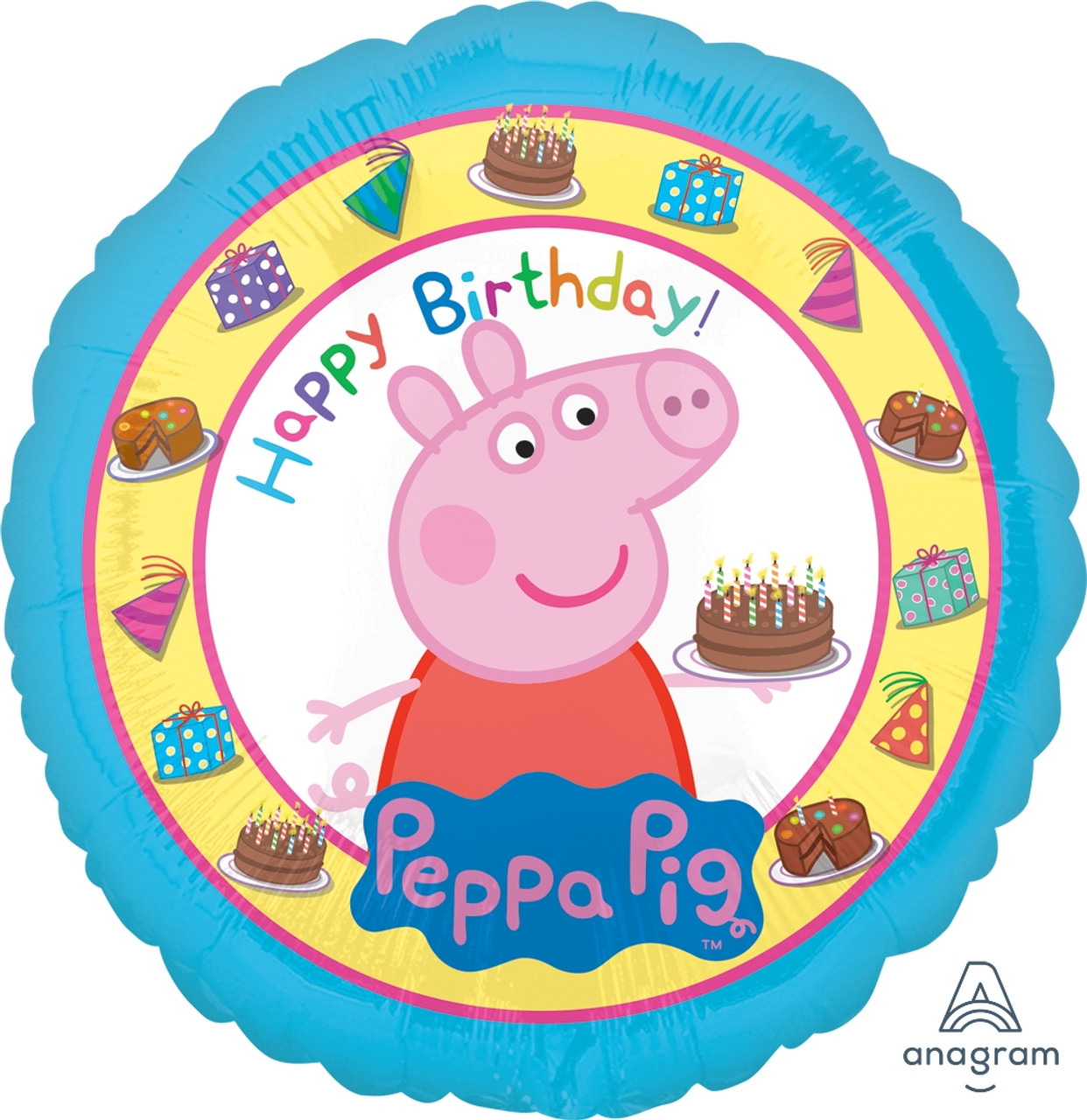 Large Pappe Pig Supershape Birthday Party Decorations Giant Foil Helium Balloon