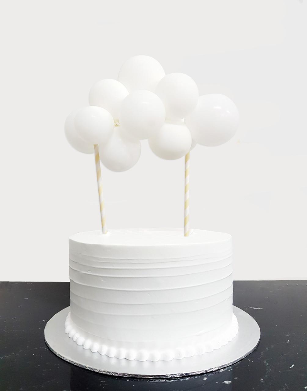 Petit Create Your Own Organic Balloon Garland Cake Topper Snow White Puffy Cloud Give Fun