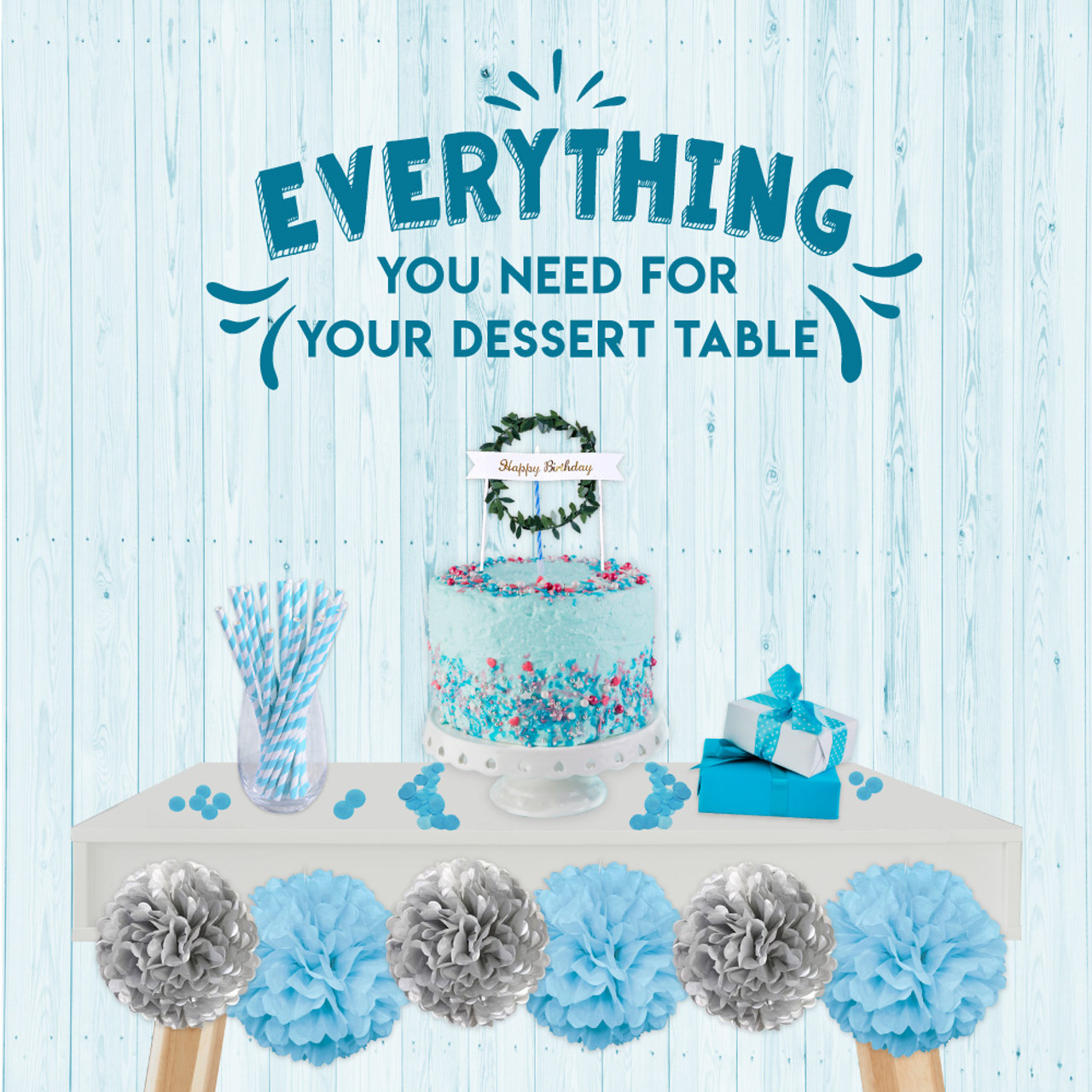 Miraculous Diy Pack Everything You Need For Your Dessert Table Give Fun Funny Birthday Cards Online Overcheapnameinfo