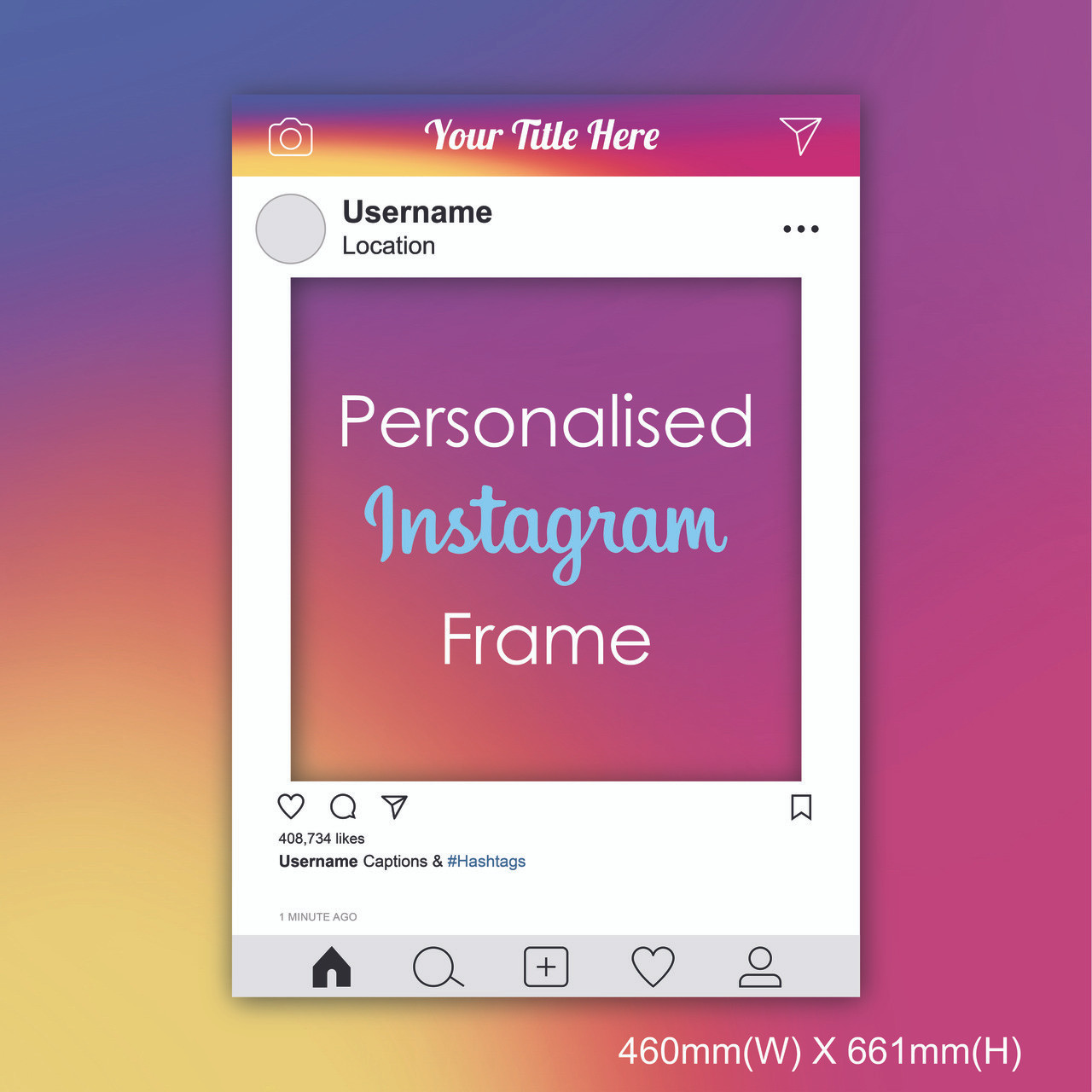 Personalized Instagram Frame - Small size [2019 edition]