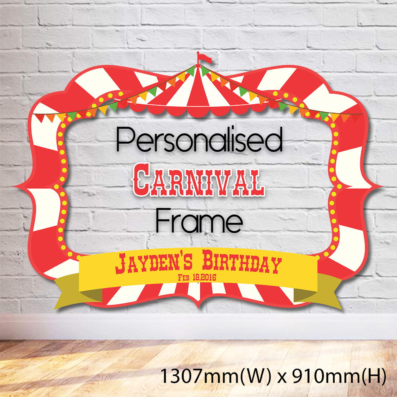 Carnival/Circus Themed Photobooth Frame - Giant - Give Fun