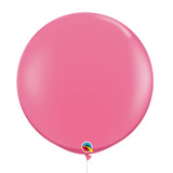 "36""/3Feet Jumbo Perfectly Round Latex Balloon - Rose Pink"