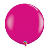"36""/3Feet Jumbo Perfectly Round Latex Balloon - Wild Berry"