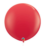 "36""/3Feet Jumbo Perfectly Round Latex Balloon - Red"