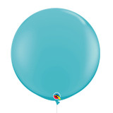 "36""/3Feet Jumbo Perfectly Round Latex Balloon - Caribbean Blue"