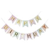 Classic Happy Birthday Bunting (2.5meter) - Pastel Rainbow