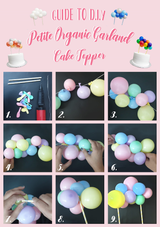 It's Handy Craft Time! Let us guide you through and create your own Petit Balloon Garland Cake Topper Now!