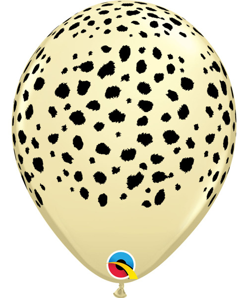 "12"" Safari Animal Print Round Latex Balloon - Cheetah Spots"