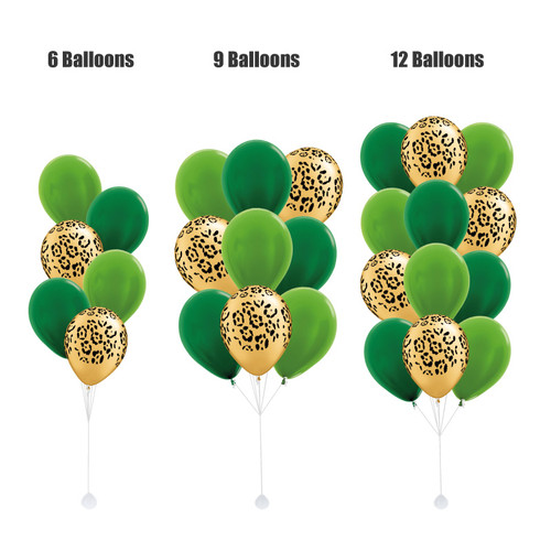 11'' Safari Animal Print Balloons Cluster - Metallic Color