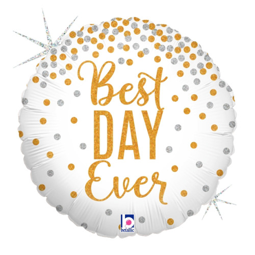 Glittering Best Day Ever Foil Balloon (18inch)