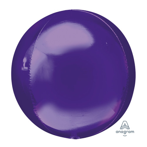 "[Orbz] 16""/41cm Sphere Shaped Balloon - Purple"