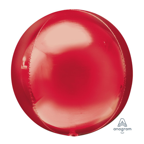 "[Orbz] 16""/41cm Sphere Shaped Balloon - Red"