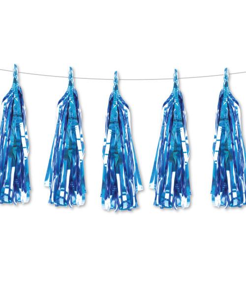 Metallic Foil Paper Tassel Garlands DIY Kit (5 Tassels) - All Metallic Blue