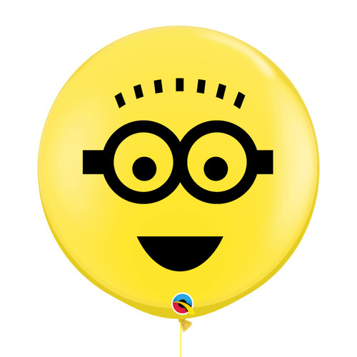"36"" Personalised Jumbo Perfectly Round Minion Balloons (Yellow) - Phil"
