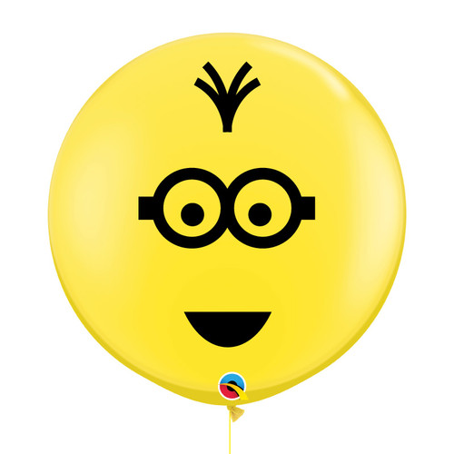 "36"" Jumbo Perfectly Round Minion Balloons (Yellow) - Tim"