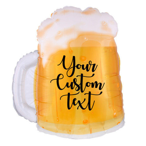 "[Beverage] 23"" Personalised Beer Mug Foil Balloon"