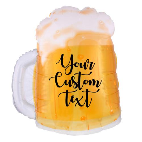 """[Beverage] 23"""" Personalised Beer Mug Foil Balloon"""