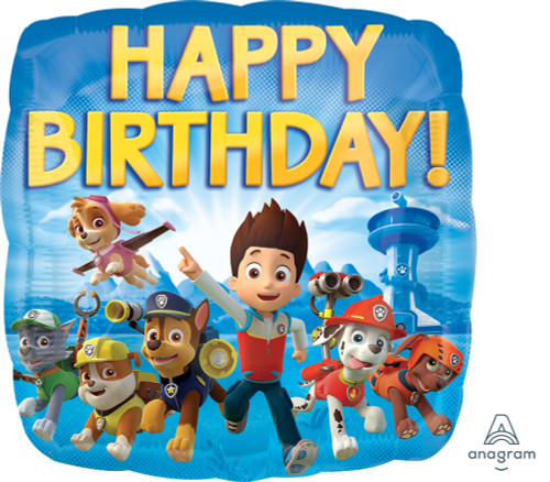 Paw Patrol Happy Birthday Foil Balloon (17inch)