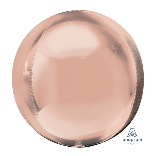 "[Orbz] 16""/41cm Sphere Shaped Balloon - Rose Gold"