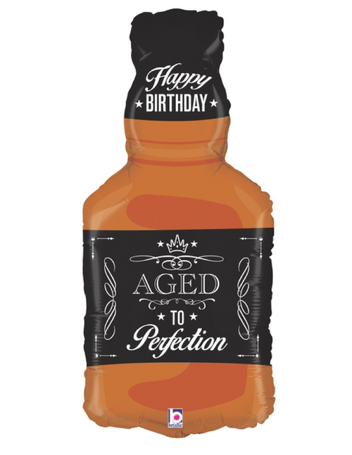 Aged To Perfection Whiskey Happy Birthday Foil Balloon (34inch)