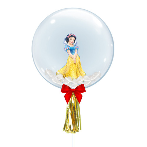 "24"" Crystal Ball Balloon - Feathers & Princess Snow White Foil Balloon Stuffed"