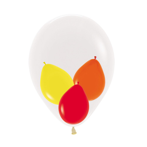 "12"" Triplet Balloon in a Balloon - Fashion Color"