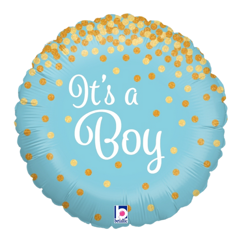 Glittering It's A Boy Foil Balloon (18inch)