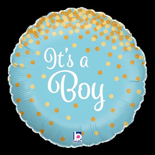 Glittering It's A Boy Foil Balloon (18inch)