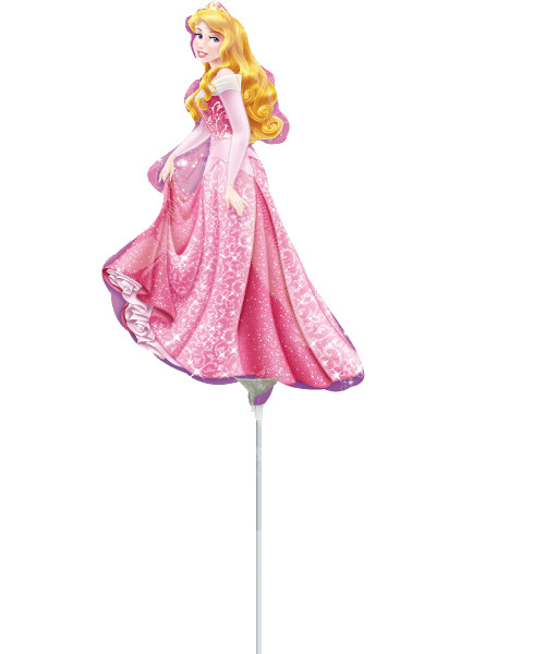 [Party: Disney Princess] Mini Princess Sleeping Beauty Foil Balloon with Stick (14inch)
