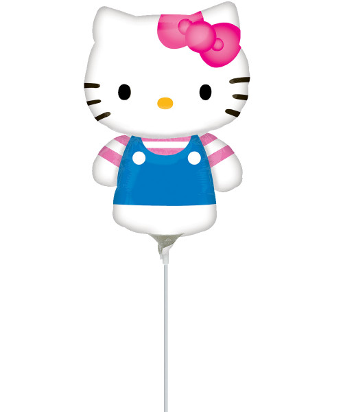 [Hello Kitty] Mini Hello Kitty Summer Fun Foil Balloon with Stick (11inch)