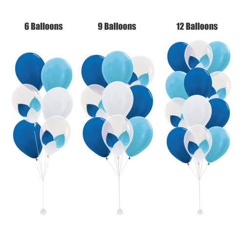 "(Create Your Own Helium Bouquet) 12"" Triplet Balloon Cluster - Metallic Color"