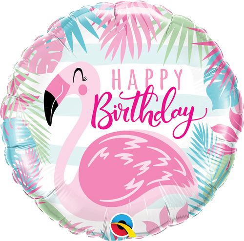 Birthday Pink Flamingo Foil Balloon (18inch)