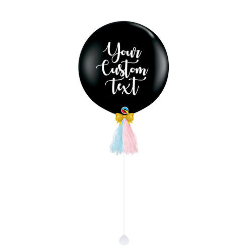 Home & Garden Event & Party Gender Reveal Balloon Big Black Reveal Girl Or Boy Letter Latex Balloon With 36 Inch Confetti Balloons For Baby Shower Party Toy Attractive And Durable