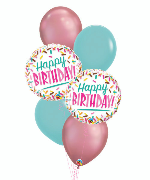 Birthday Colorful Sprinkles Balloons Bouquet