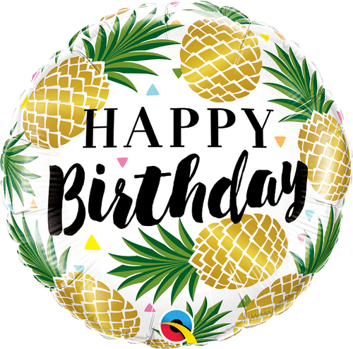 [Fruit] Birthday Golden Pineapple Foil Balloon (18inch)