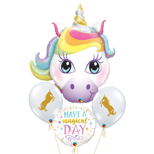 Magical Unicorn Magical Day Balloons Bouquet